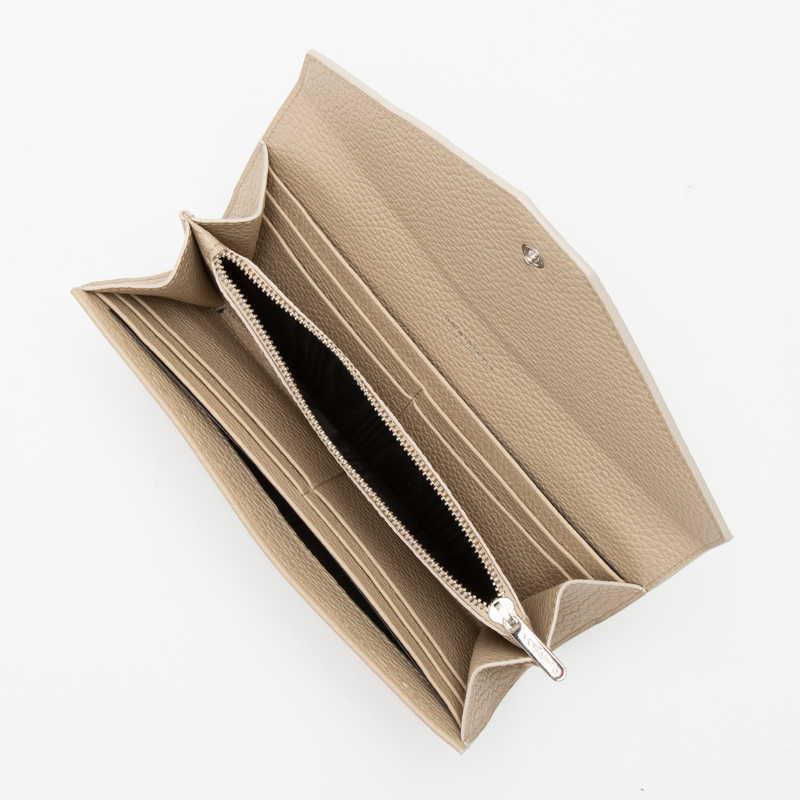 【NEW】 Long Wallet (FLAP) 長財布 (フラップ) カーフ (ライニング:ラムレザー) ベージュ 20E (シルバー金具)