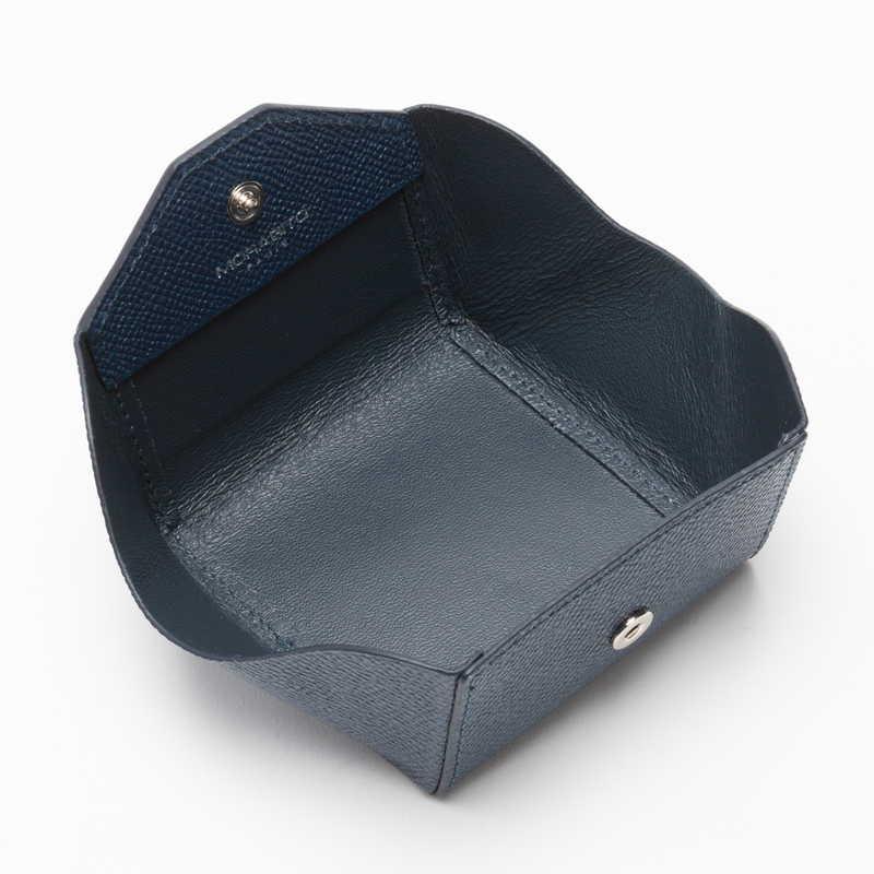 【NEW】 Coin Case コインケース (スナップ) カーフ (ライニング:ラムレザー) ネイビー 45 (シルバー金具)