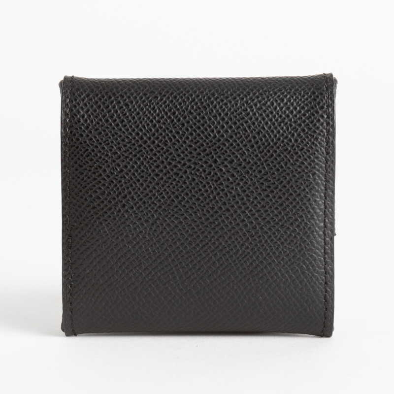 【NEW】 Coin Case コインケース (スナップ) カーフ (ライニング:ラムレザー) ブラック 10 (シルバー金具)