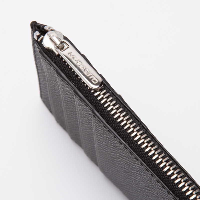 【NEW】 Coin Card Holder  コインカードホルダー カーフ (ライニング:ラムレザー) ブラック 10 (シルバー金具)