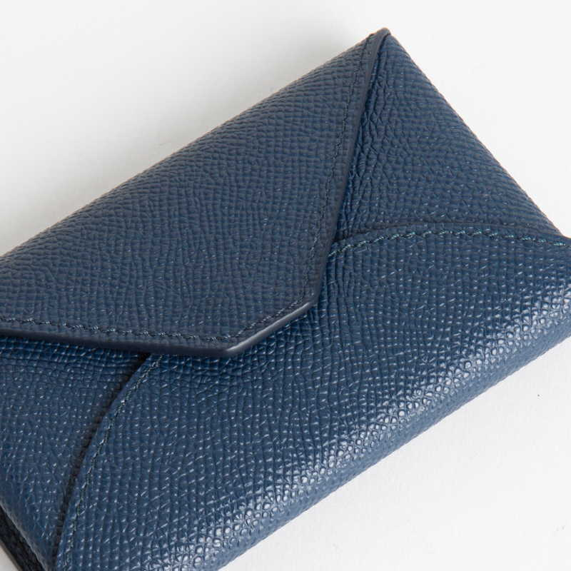 【NEW】 Card Case  カードケース カーフ (ライニング:ラムレザー) ネイビー 45