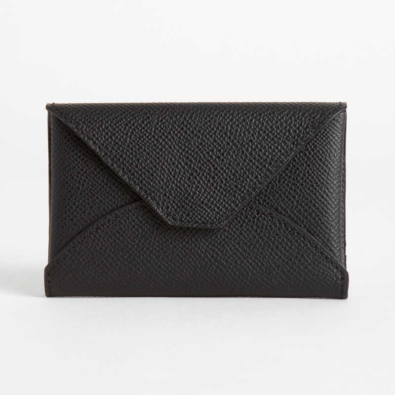 【NEW】 Card Case  カードケース カーフ (ライニング:ラムレザー) ブラック 10