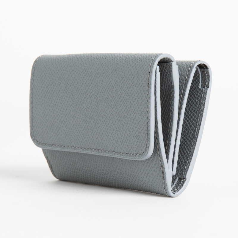【NEW】 Mini Wallet  ミニ ウォレット カーフ (ライニング:ラムレザー) グレー 11