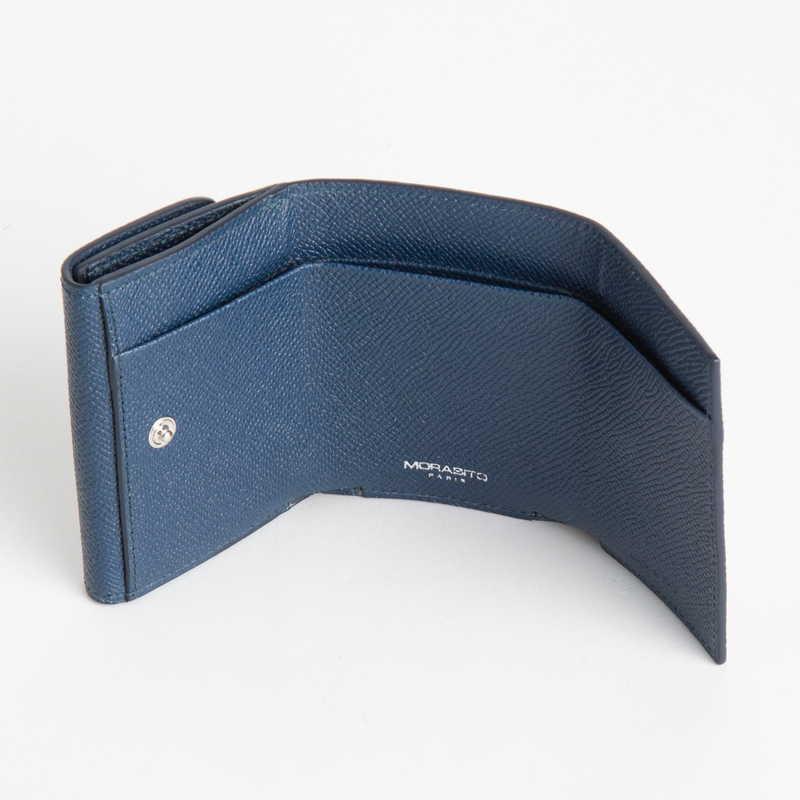 【NEW】 Mini Wallet  ミニ ウォレット カーフ (ライニング:ラムレザー) ネイビー 45