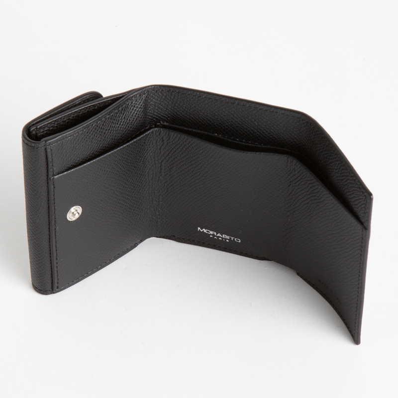 【NEW】 Mini Wallet  ミニ ウォレット カーフ (ライニング:ラムレザー) ブラック 10