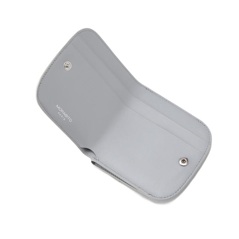 PAULINE(ポリーヌ) 2つ折り財布 グレー/オフホワイト