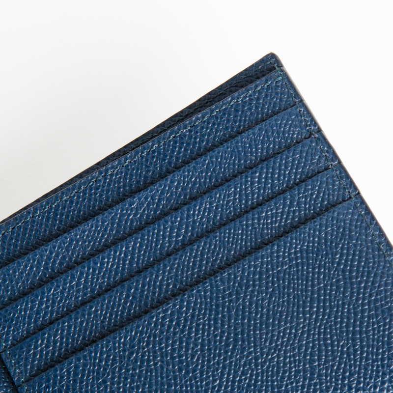 【NEW】 Folding Wallet  2つ折り財布 カーフ (ライニング:ラムレザー) ネイビー 45