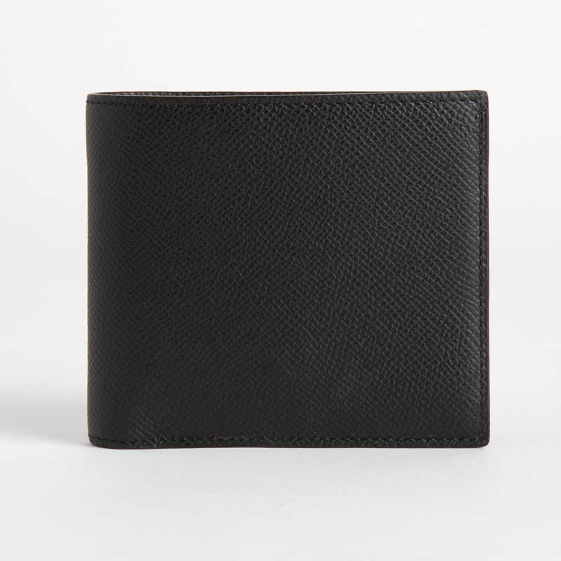 【NEW】 Folding Wallet  2つ折り財布 カーフ (ライニング:ラムレザー) ブラック 10
