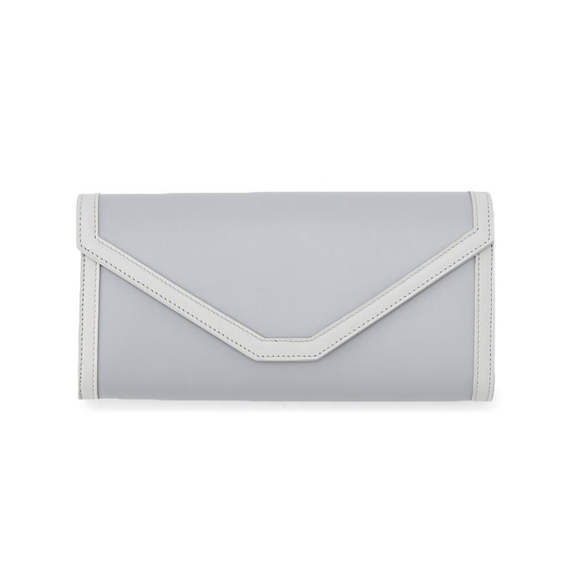 PAULINE(ポリーヌ) 長財布 グレー/オフホワイト