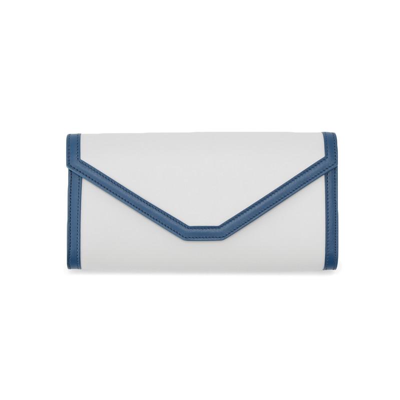 PAULINE(ポリーヌ) 長財布 オフホワイト/ブルー