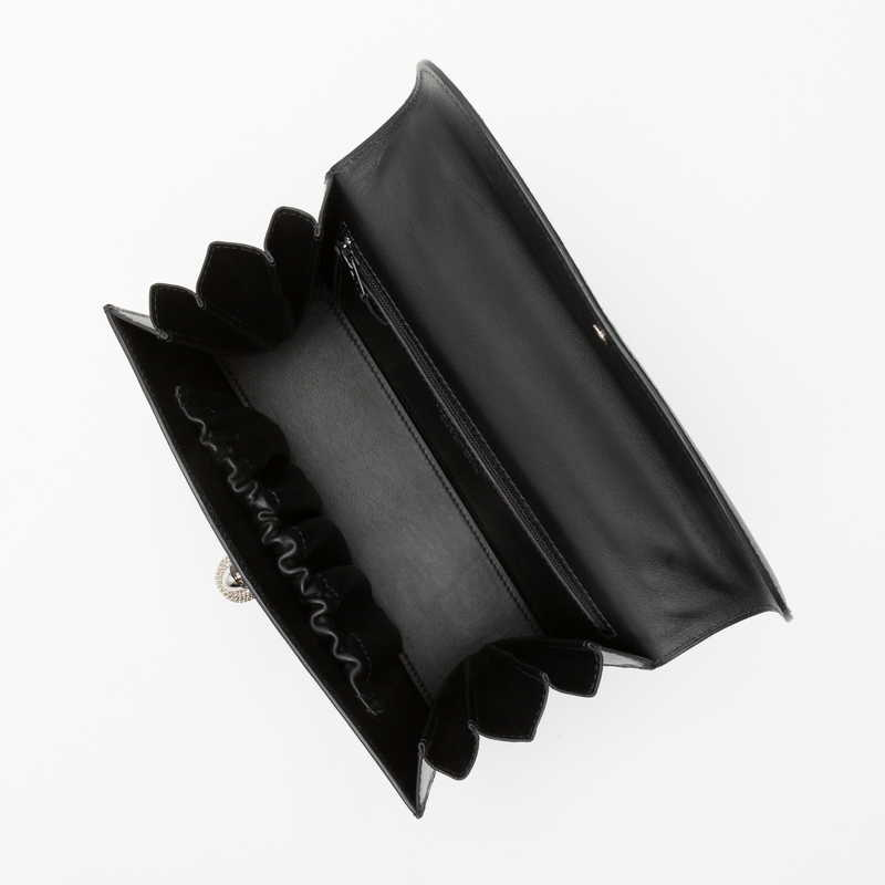 【NEW】 TRAVIATA PM トラヴィアータPM カーフ (ライニング:ラムレザー)  ブラック 10 (シルバー金具)