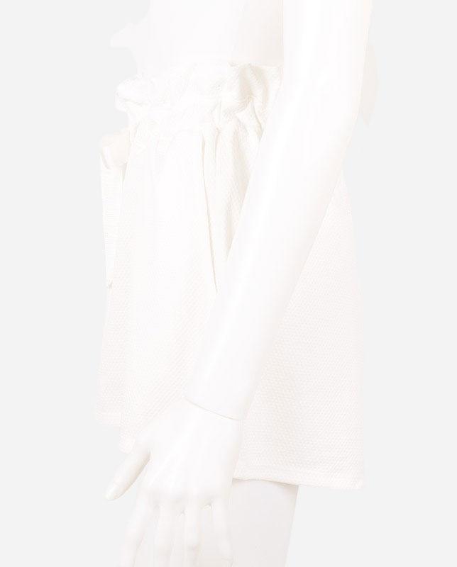 UV UPF50 紫外線カット薄手エンボス生地ショートパンツ  ビーチウェア兼用 【LAULEA】