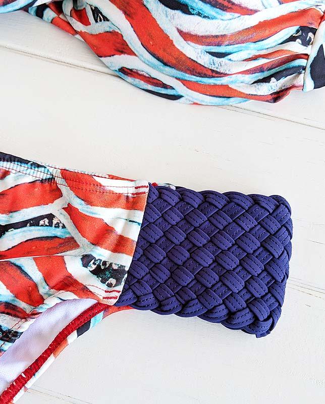 サイド編みアフリカンツイストバンドゥ水着  Morena Rosa