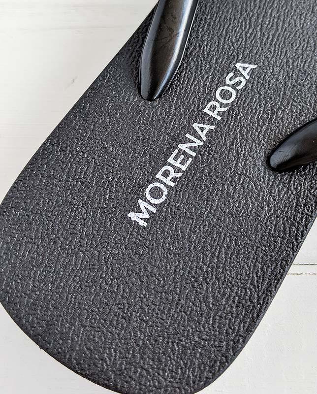ブラックビーチサンダル Morena Rosa