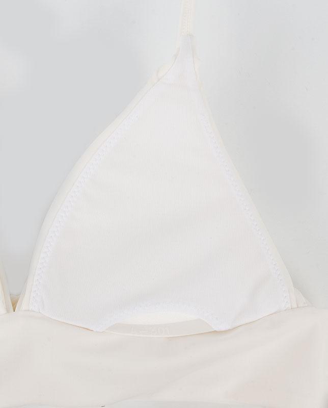 ボタニカル柄 肩リボン ワンカラープッシュアップパッド水着 【LAULEA】