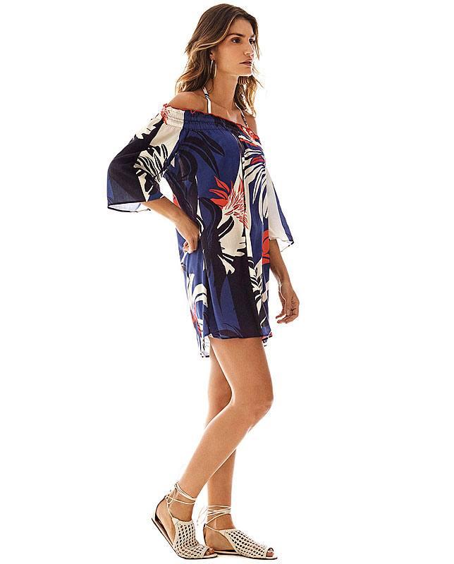 オフショルダーチュニックドレス フラワー Morena Rosa