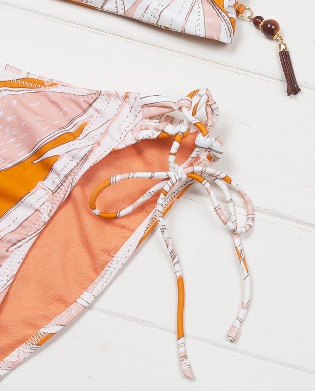 アートボタニカル レーサーバック編み上げハーフトップ水着【LAULEA】