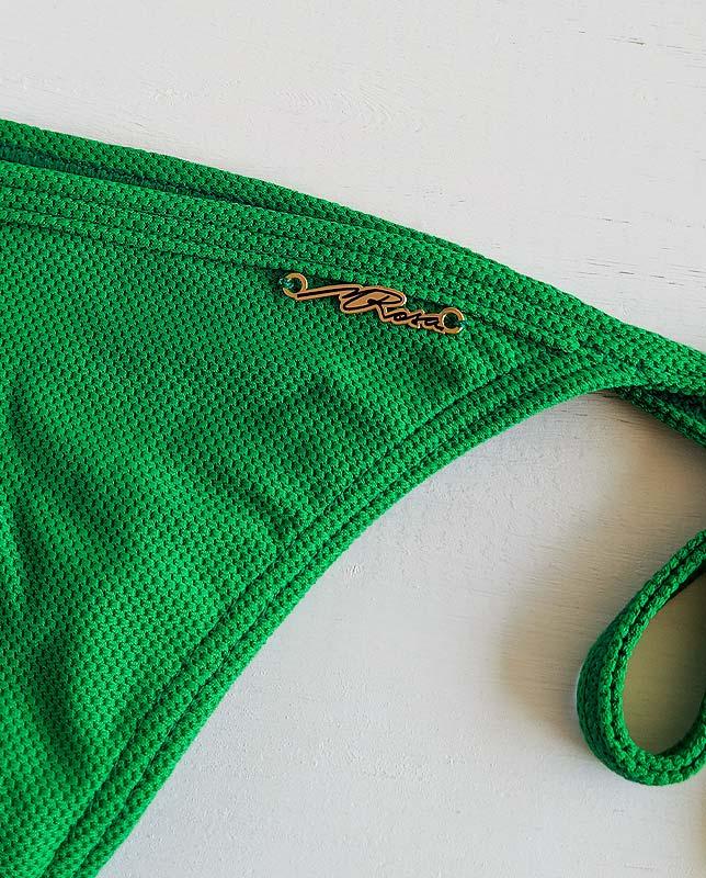 シンプルグリーン編み三角水着  Morena Rosa