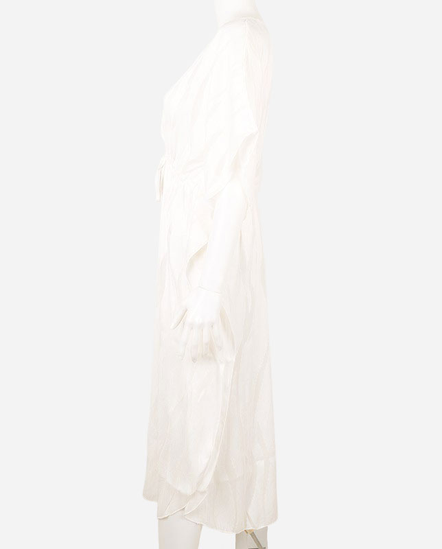 シースルー ウエスト切り替えロングワンピース ビーチウェア兼用 【LAULEA】