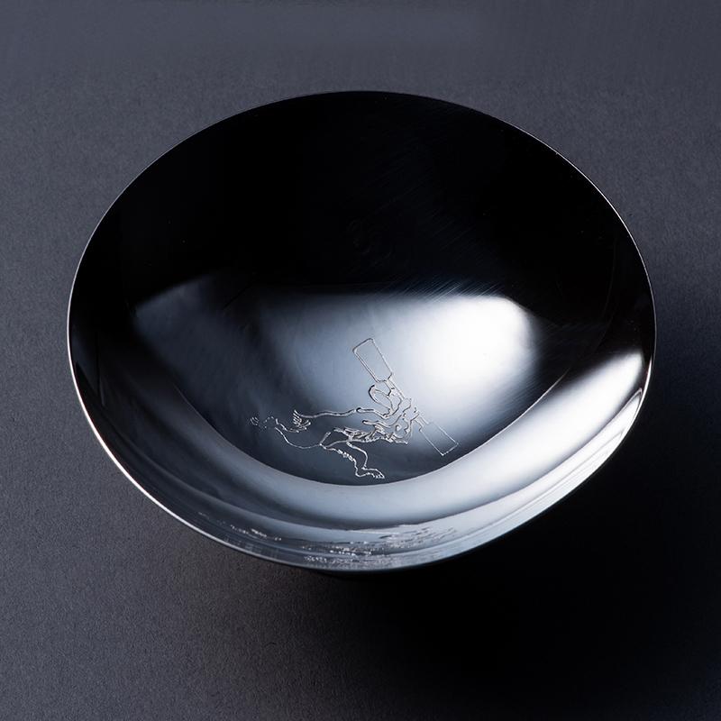 純銀 玉盃2寸 「うさぎのつき」