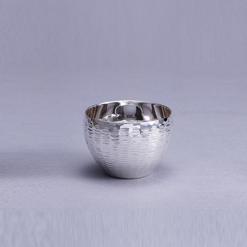 純銀 ぐいのみ 並型 茣蓙目 磨き仕上