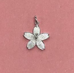 銀製 根付 桜