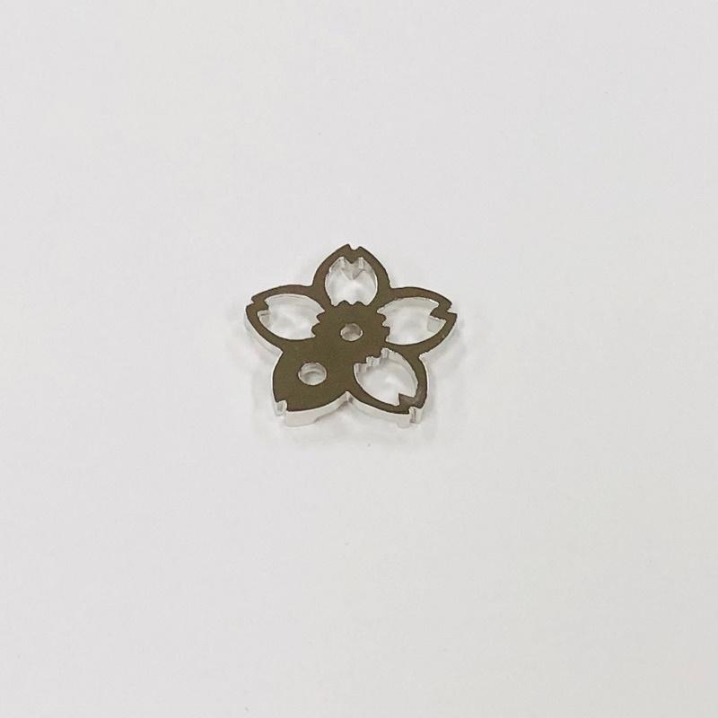 銀製 香立 八重桜