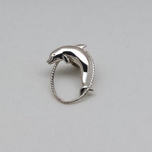 銀製 眼鏡ホルダー(イルカ)銀ループ