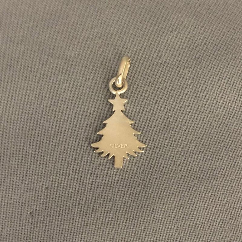 銀製 切抜き クリスマス ツリー