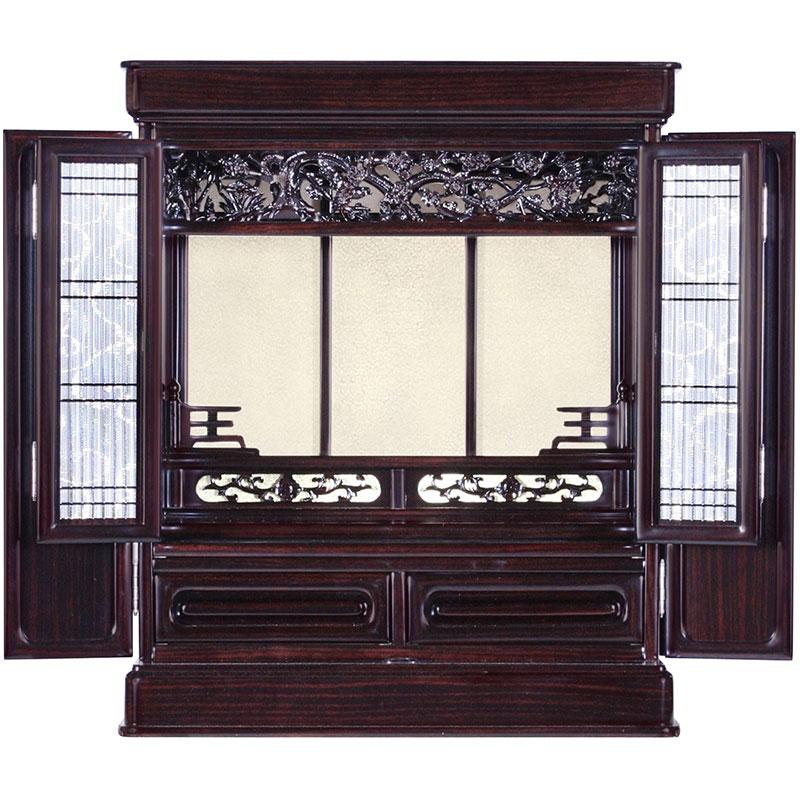 伝統的仏壇紫檀調 花鳥18号(黒檀調もございます)