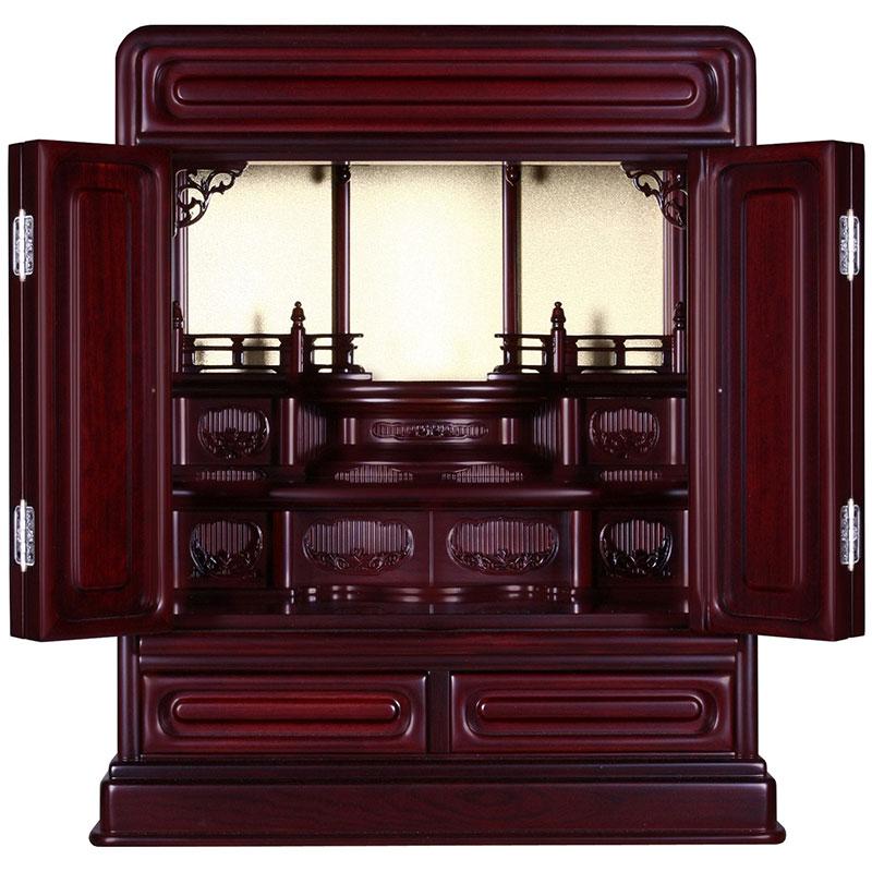 伝統的仏壇黒檀調ダルマ型唐草18号(紫檀調もございます)