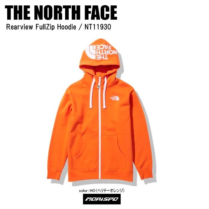 THE NORTH FACE ノースフェイス パーカー トレーナー REARVIEW FULLZIP HOODIE リアビューフルジップフーディー NT11930 ヘリテージオレンジ