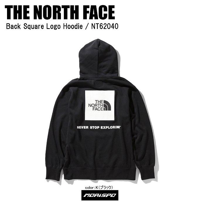 THE NORTH FACE ノースフェイス パーカー トレーナー BACK SQUARE LOGO HOODIE バックスクエアロゴフーディー NT62040 ブラック