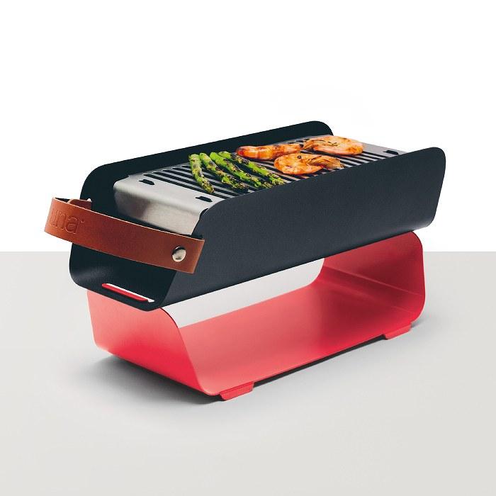 UNA GRILL ウナ ポータブルグリル Strawberry Red  BBQ バーベキュー コンロ グリルプレート 小物 アウトドア