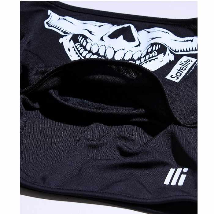 [ネコポス対応]SATELITE サテライト SATELLITE SPORTS SCULL FACE MASK スポーツスカルフェイスマスク FACE MASK 003 ブラック