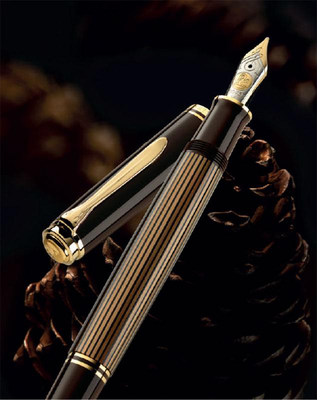 ペリカン 特別生産品 M800 ブラウンブラック 万年筆 (吸入式)