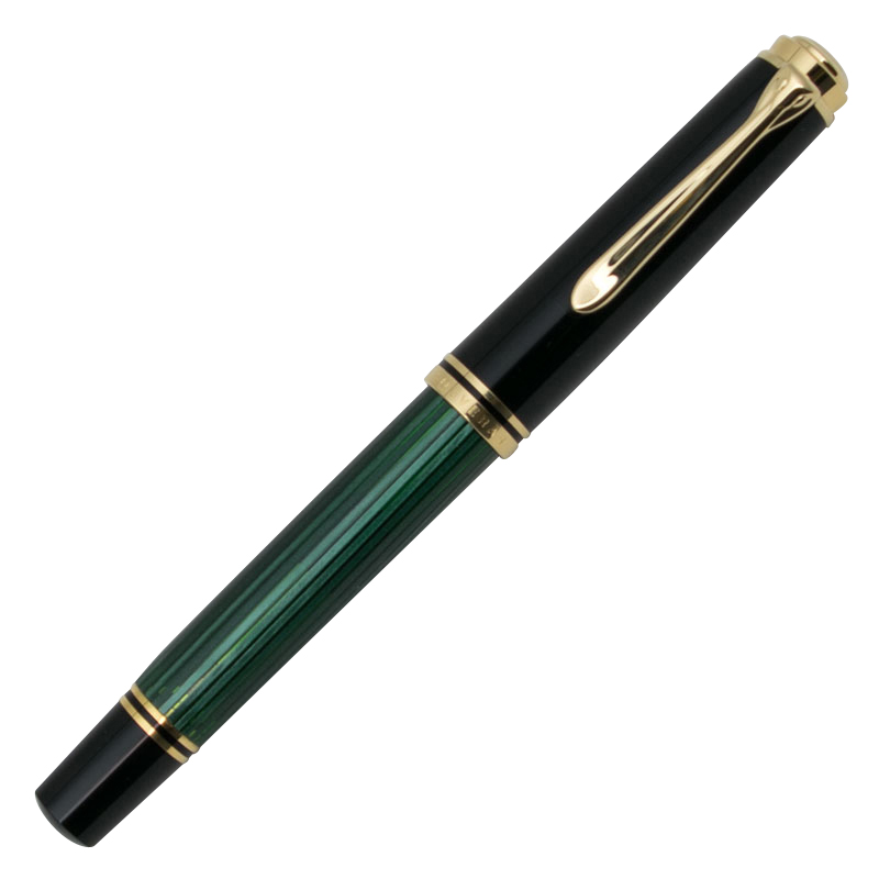ペリカン M800 万年筆 (吸入式) 緑縞