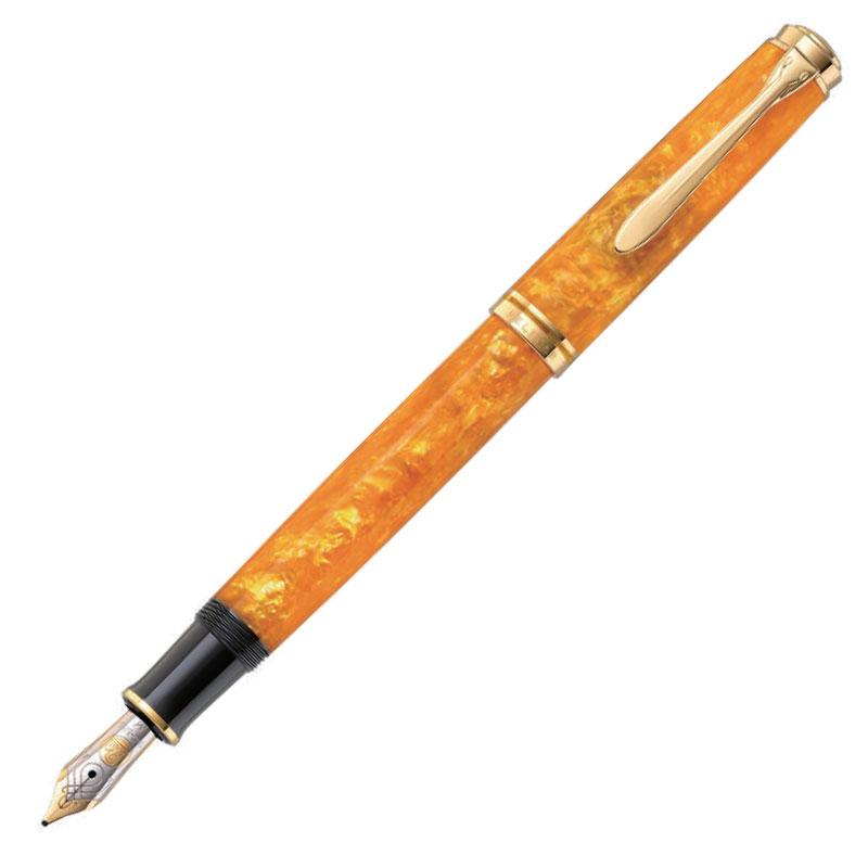 ペリカン 特別生産品 M600 ヴァイブラントオレンジ 万年筆 (吸入式)