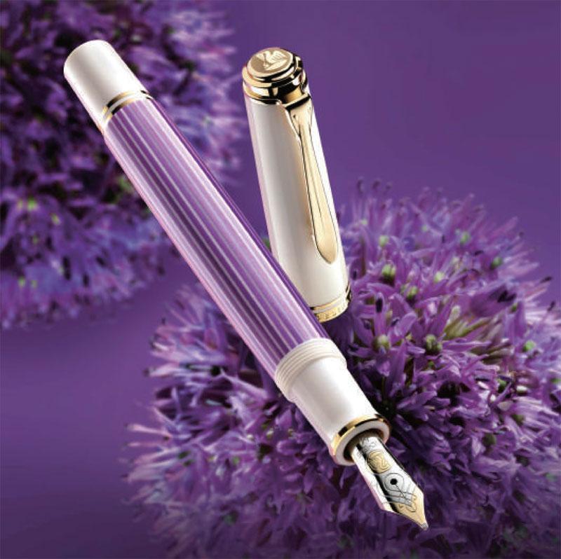 ペリカン 特別生産品 M600 バイオレット/ホワイト 万年筆 (吸入式)