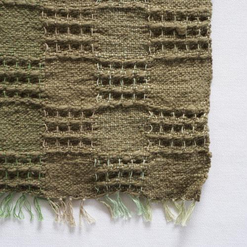 farola ワッフル織りのふんわりてぬぐい・緑