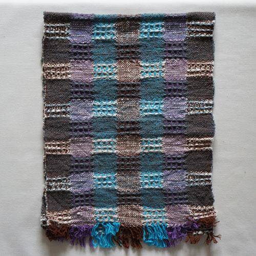 farola ワッフル織りのふんわりてぬぐい・青
