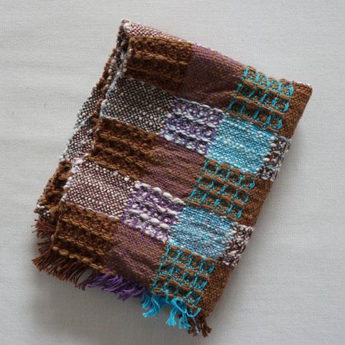 farola ワッフル織りのふんわりてぬぐい・茶