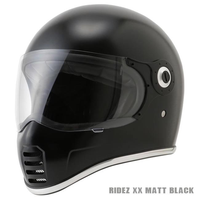 【RIDEZ】ライズ RIDEZ XX ダブルエックス マットブラック(RIDEZ-XX-MBK) ネオクラシック  フルフェイスヘルメット