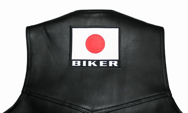 【刺繍パッチ】日本国旗BIKER パッチ(大)