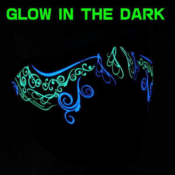 【ZAN headgear】ネオプレンハーフフェイスマスク 『Venetian Glow In The Dark』 ベネチアン 暗闇で光る