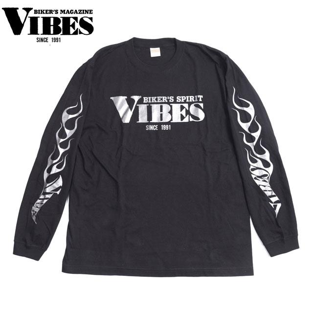 VIBES バイブス  長袖Tシャツ(シルバーロゴ)