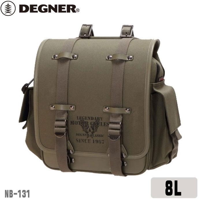 【DEGNER】 デグナー ミリタリーテイストナイロンサドルバッグ[8L](NB-131)