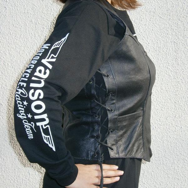 【ALLSTATE LEATHER】レディースサイドレースベスト・AL2331