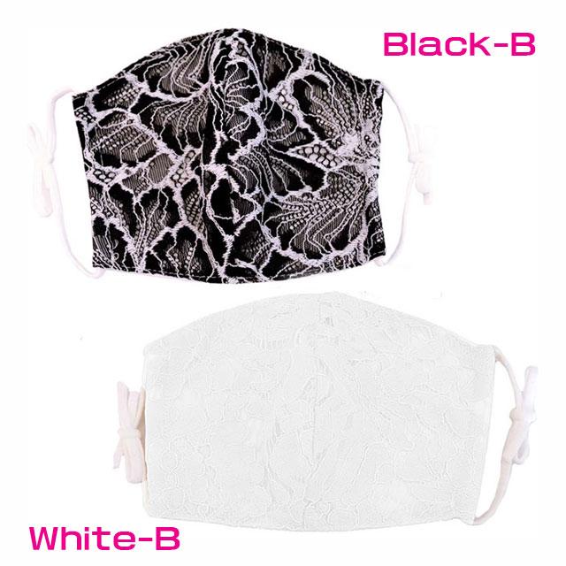 【LoveRich】 花柄レースマスク 洗えるマスク 3D 立体