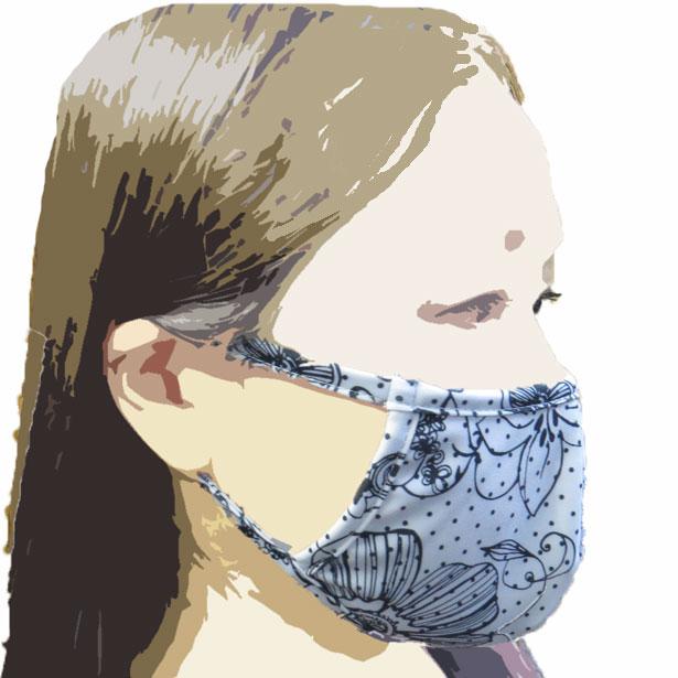 【LoveRich】 水着素材マスク 紫外線カット 洗えるマスク 3D 立体